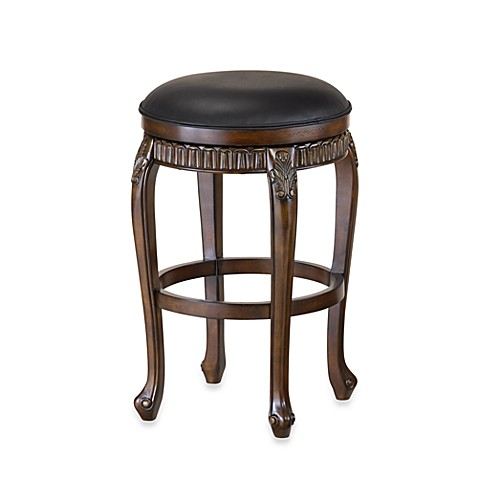 Hillsdale Fleur De Lis Backless Swivel Barstool and Counter Stool