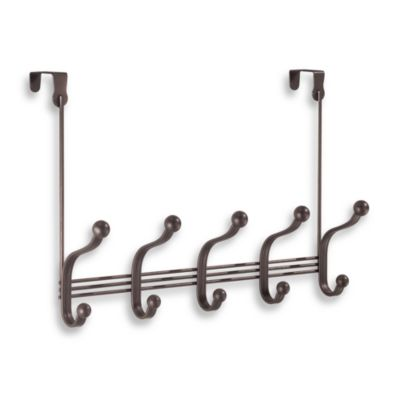InterDesign® York Lyra Over-The-Door 5-Hook Rack