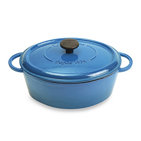 Fontignac Oval Cast Iron 5.5-Quart Casserole in Blue