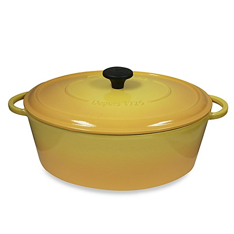 Fontignac Oval Cast Iron 5.5-Quart Casserole in Yellow