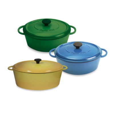 Cast Iron Oval 8-Quart Casserole in Blue