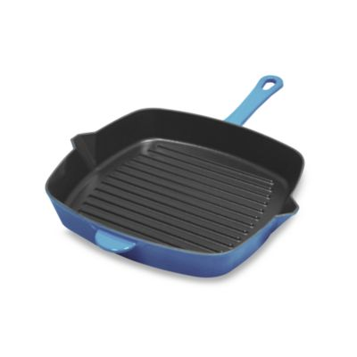 Fontignac Cast Iron Stovetop Grill in Blue