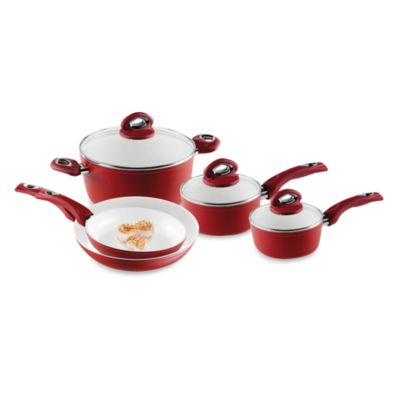 Bialetti® Aeternum Red 8-Piece Cookware Set