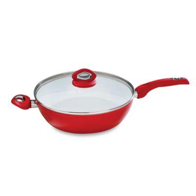 Bialetti® Aeternum Red 12-Inch Deep Covered Saute