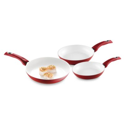 Bialetti® Aeternum Red Saute Pan Set (Set of 3)