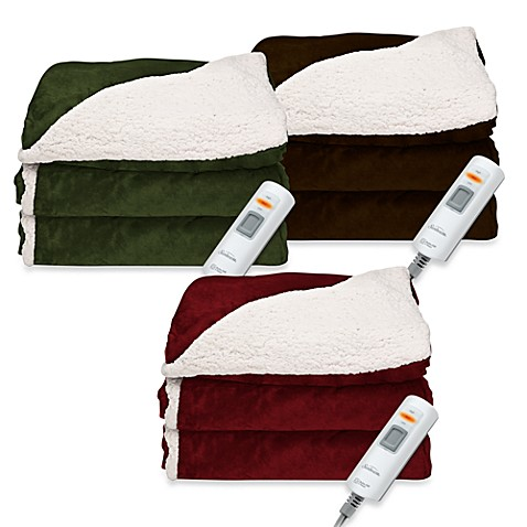 SlumberRest™ Sherpa Electric Reversible Heated Throw