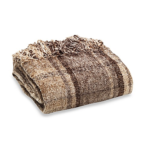 Milano Chenille Throw in Taupe