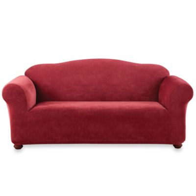 Sure Fit® Stretch Sterling Sofa Slipcover in Garnet