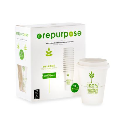 Repurpose® 12-Ounce Insulated Disposable Cups (Set of 12)