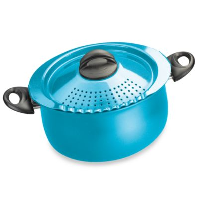 Bialetti® Trends 5-Quart Pasta Pot in Aqua Blue