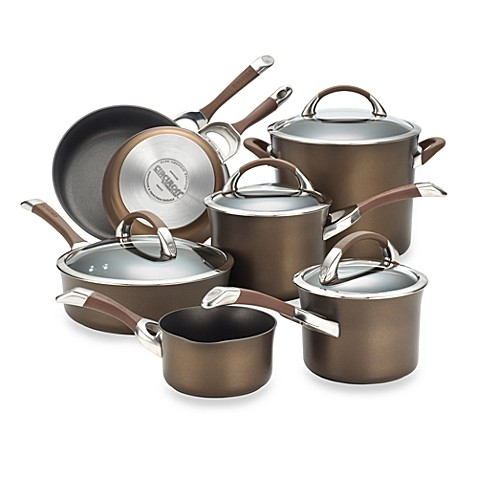 Circulon® Symmetry™ Chocolate Brown 11-Piece Cookware Set and Open Stock