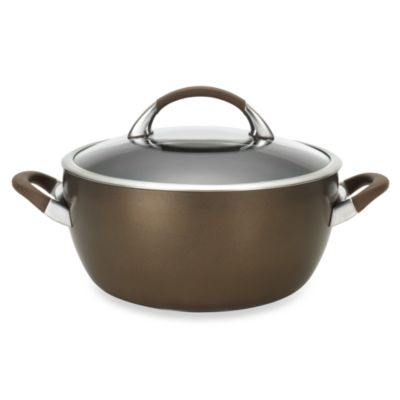 Circulon® Symmetry™ Chocolate Brown 5.5-Quart Covered Casserole