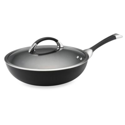 Circulon® Symmetry™ Black 12-Inch Covered Essential Pan