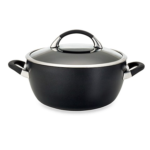 Circulon® Symmetry™ Black 5.5-Quart Covered Casserole