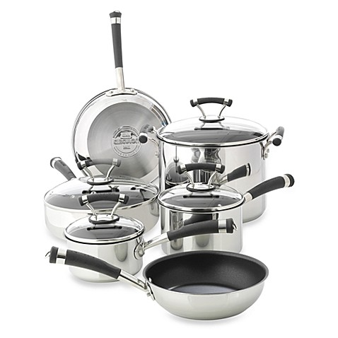 Circulon® Contempo™ Stainless Steel Non-Stick 10-Piece Cookware Set