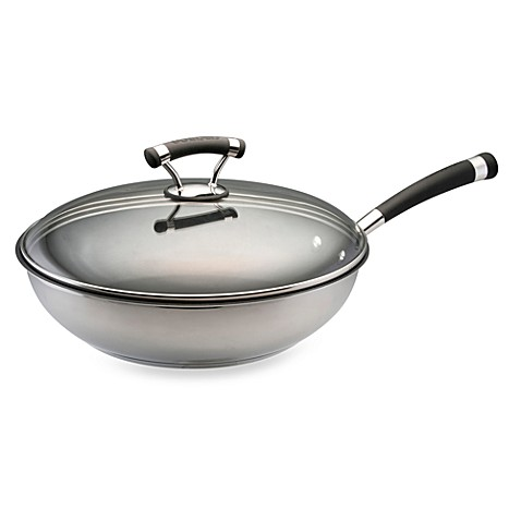 Circulon® Contempo™ Stainless Steel Non-Stick 12 1/2-Inch Covered Deep Skillet