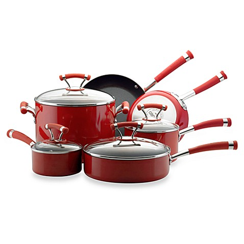 Circulon® Contempo™ Red Non-Stick 10-Piece Cookware Set