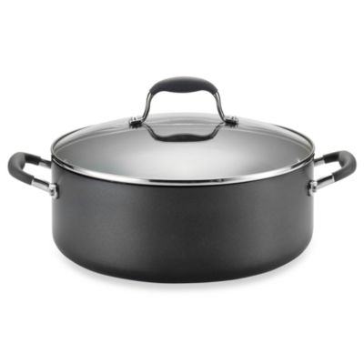 Anolon® Advanced Hard Anodized Nonstick 7.5 qt. Wide Covered Stock Pot