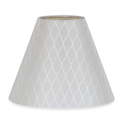 White Criss Cross 7 1/2-Inch Fabric Lamp Shade