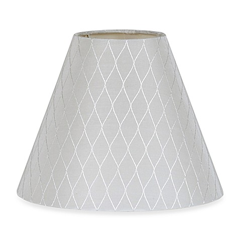 Mix & Match Small 9-Inch Diamond Bell Lamp Shade in White