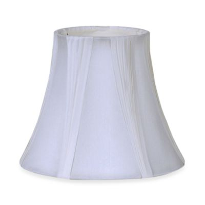 White Semi-Pleated 9-Inch Fabric Lamp Shade