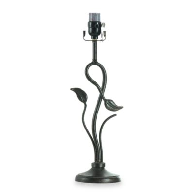 Mix and Match Textured Bronze Floral Table Lamp Base