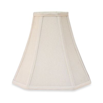 Square Ivory 8 1/2-Inch Fabric Lamp Shade