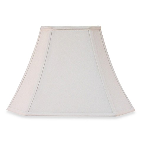 Large 14.5-Inch Fabric Square Bell Lamp Shade in Ivory