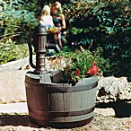 Little Giant® Whiskey Barrel Planter Classical Fountain