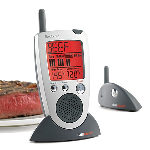 Brookstone® Grill Alert® Talking Remote Meat Thermometer