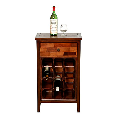 Wood Wine Cabinet with Drawer