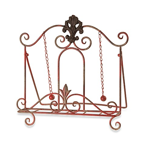 Red Metal Book Stand