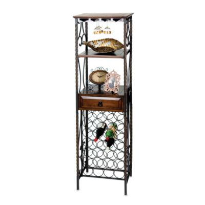 Metal 21-Bottle Wine Shelf Rack