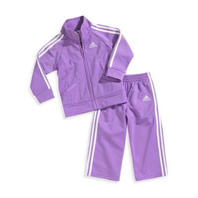 Adidas® Kids 2-Piece Size 6 Months Hyacinth Tracksuit Set in Purple