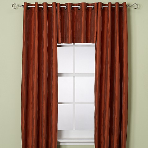 Venice Window Curtain Valance in Rust