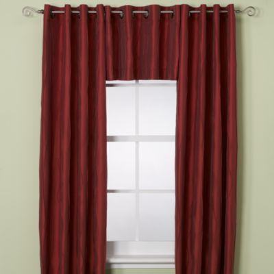 Venice Window Curtain Panel - 84-Inch - Burgundy