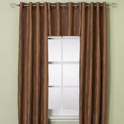 Red And Brown Curtain Panels