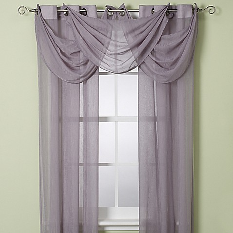 "Anya Crushed Voile 108"" Window Sheer with Grommets"