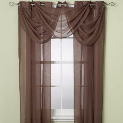Anya Crushed Voile 108-Inch Window Sheer with Grommets in Mocha