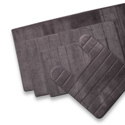 Microdry® Ultimate Luxury Memory Foam 17-Inch x 24-Inch Bath Mat - Charcoal