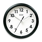 La Crosse® 10-Inch Analog Black Wall Clock with Illuminated Hands