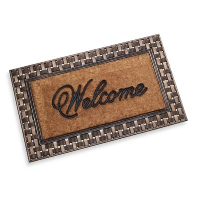 Basketweave Welcome Doormat