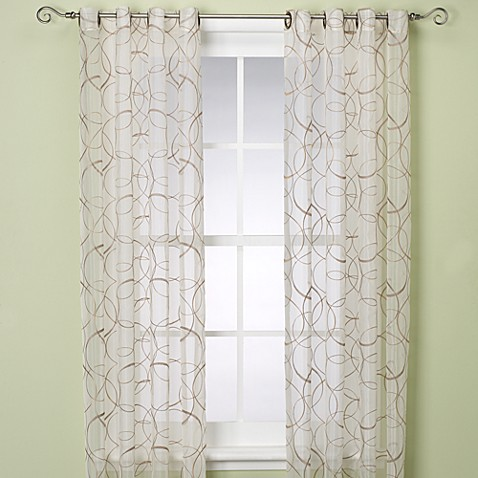 Orbitz Sheer 95-Inch Window Panel in Natural