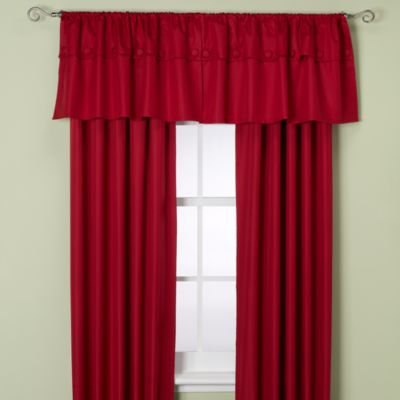 Orlando Kid Window Valance in Chili