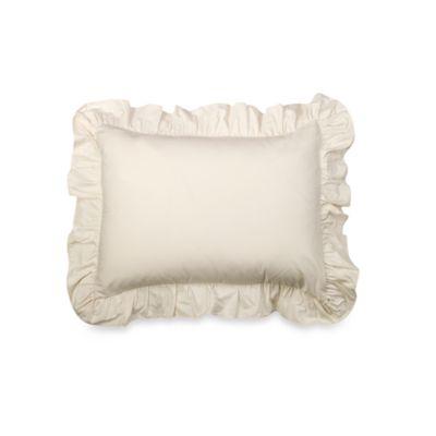 smoothweave™ Ruffled Standard Sham in Ivory