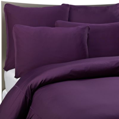 SHEEX® Performance Bedding Twin Duvet Cover Set in Plum