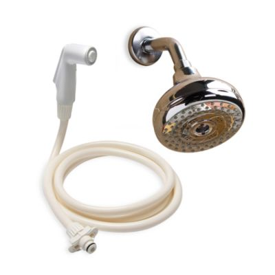 Rinse Ace 2-in-1 Convertible 4 Settings Rain Showerhead in Chrome