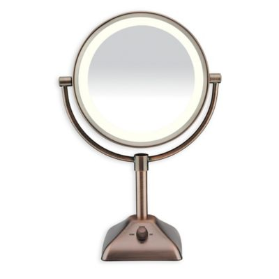Variable Lighted 10X/1X Mirror in Oil Rubbed Bronze
