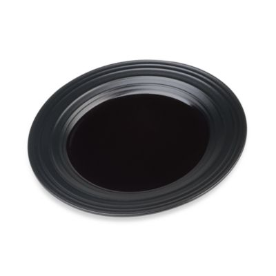 Swirl Salad Plate in Black
