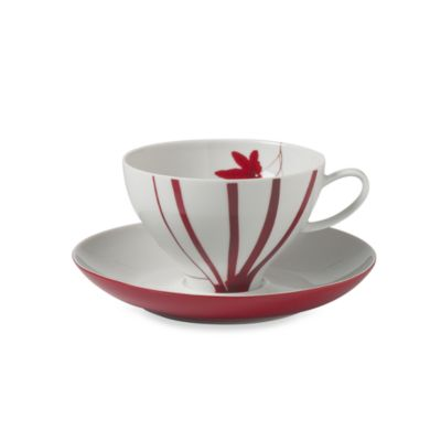 Mikasa® 10-Ounce Coffee Cup & Saucer in Pure Red